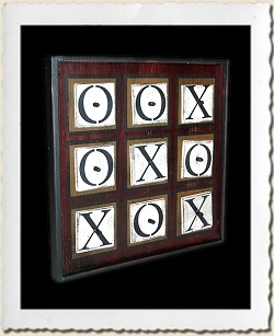 Tic-Tac-Toe Game Board Stencil