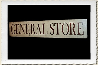 General Store Sign Stencil