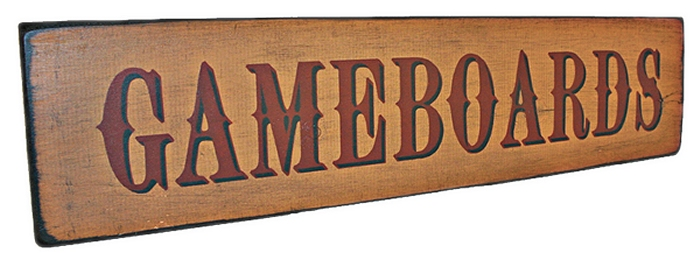 Gameboards Sign Stencil