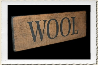 Wool Sign Stencil by Primitive Designs Stencil Co.