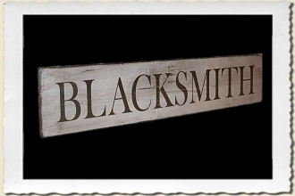 Blacksmith Sign Stencil by Primitive Designs Stencil Co.