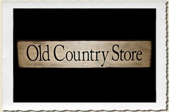 Old Country Store Sign Stencil by Primitive Designs Stencil Co.
