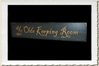 Ye Olde Keeping Room Sign Stencil by Primitive Designs Stencil Co.