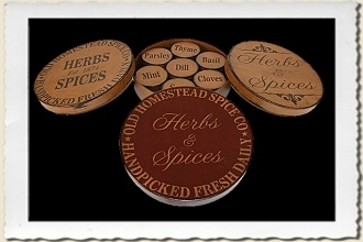 Old Homestead Spice Stencil Set