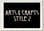 Arts & Crafts Style 2 Alphabet Set