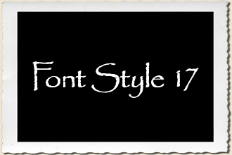 Font Style 17 Alphabet Stencil Set by Primitive Designs Stencil Co.