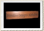 Primitive Designs Style Alphabet Set